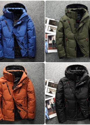 Мужская зимняя спортивный куртка пуховик JEEP. 4 цвета! Размер...
