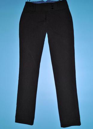 Брюки s женские серые в полоску штаны классика с карманами прямые