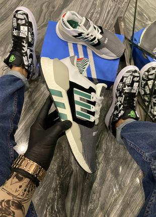 Кроссовки Adidas EQT Black White Green