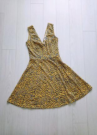 Летнее платье на девушку, желтый сарафан H&M