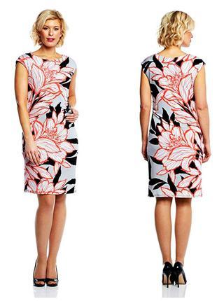 Скидка! красочное нарядное платье-шифт р.18