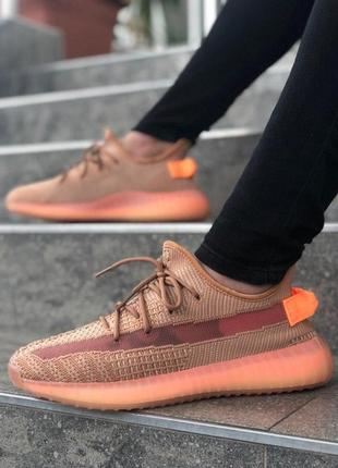 Мужские кроссовки адидас adidas yeezy boost 350 v2 orange.