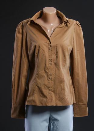 Рубашка женская цвета кэмел.