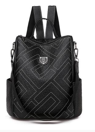 Сумка рюкзак женский черный