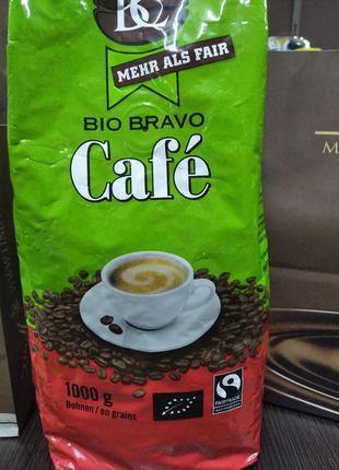 Кофе зерновой Bertschi Bio Bravo Cafe 60% арабики 40% робуста.