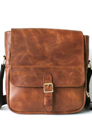 """Мужская кожаная сумка """"Effetto"""" коричневая"""