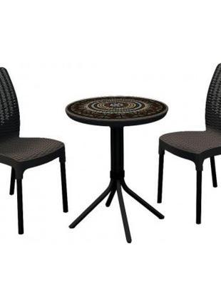 Комплект садовой мебели Keter Chelsea Set With Mosaic Table