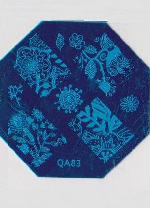 Диск QA83 стемпинг пластины клише формы плитки узоры дизайн ногти