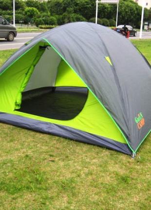 Палатка туристическая четырехместная Green Camp 1018