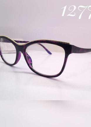 Очки компьютерные женские fabia monti fm359 фиолет мрамор