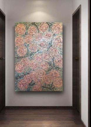 Картина интерьерная, объемная, абстракция, 70х100см