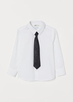 Hm рубашка для мальчика с галстуком в комплекте 8-9лет