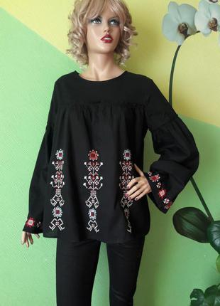 Блуза с натуральной ткани с вышивкой
