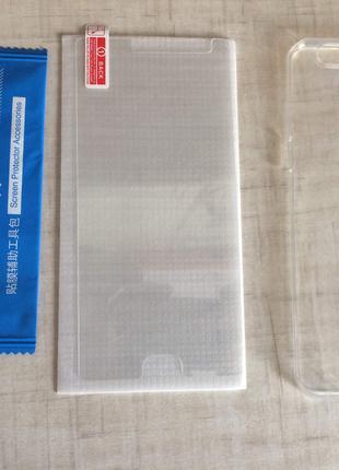 Защитное стекло + чехол OnePlus 5