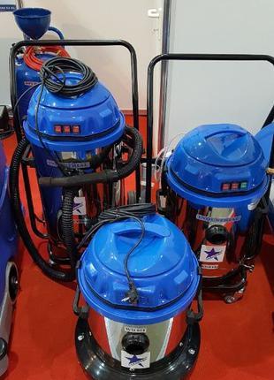 Мощный пылесос 3 турбины 3600 Вт для влажной и сухой уборки