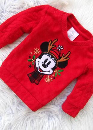 Кофта свитер disney minney mouse новый год