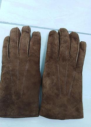 Мужские замшевые   перчатки real   pigskin.