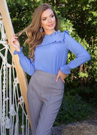 Романтичная блуза с оборками *бесплатная доставка новой почтой!!!
