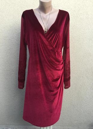 Бархатное,велюровое платье,нарядное,вечернее,большой размер