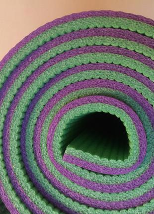 Коврик туристический фиолетово-зеленый 1800/600/8мм