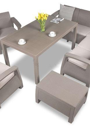 Комплект садовой мебели Keter Corfu Dining Duo 7 Set
