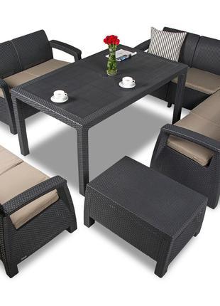 Комплект садовой мебели Keter Corfu Dining Love 9 Set