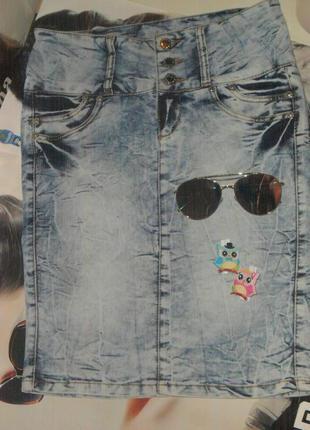 Стильная юбка - винтаж, варёнка. юбка до колена джинсовая почт...