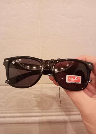 Стильные очки италия в стиле ray ban c пятнышком на стекле. це...