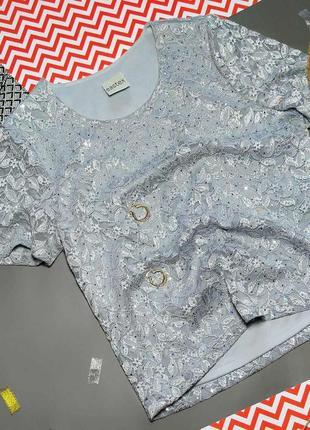 Нарядная блуза блестки паетки камни eastex ❗новогодняя распрод...