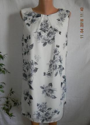 Платье прямого кроя с нежным принтом