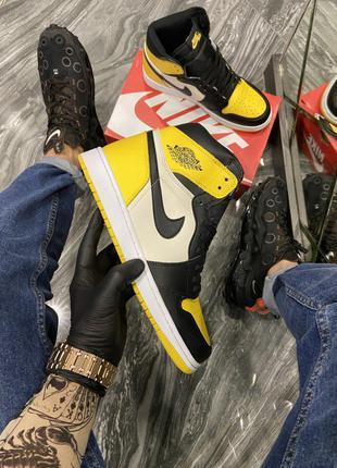 Кроссовки Nike Air Jordan 1 Mid Yellow Black