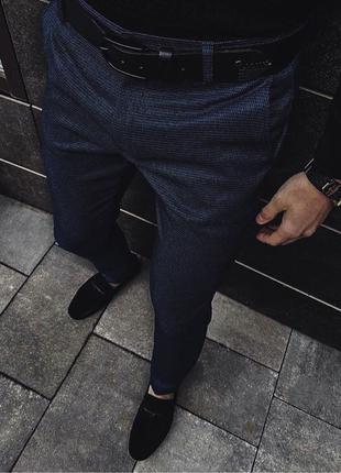 Темно-синие брюки «POBEDOV»