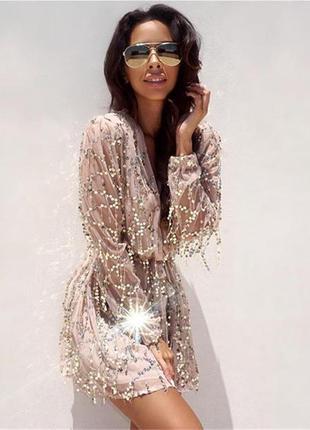 Легкое платье в крупную паетку 😍 😍 😍