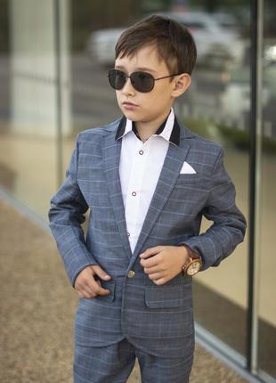 Стильный костюм для мальчика пиджак + брюки (школа)