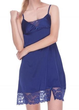 Сорочка шовк синя serenade 602 раз.s-xl 3 варианта цвета