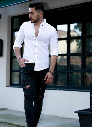 Мужская рубашка с длинным рукавом Rubaska Турция(01-A1-020)