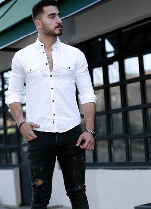 Мужская рубашка с длинным рукавом Rubaska Турция(01-A1-019)