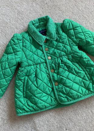 Стеганая куртка на девочку ralph lauren