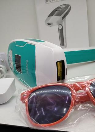 Фото эпилятор лазерный для тела лица бикини Kemei KM 6813 удал...