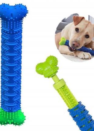 Игрушка для чистки зубов у собак зубная щетка для собак Chewbrush