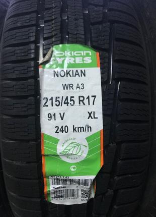 Шины Зимние Nokian WR A3 215/45 R17, Hakkapeliitta 7 235/40 R1...