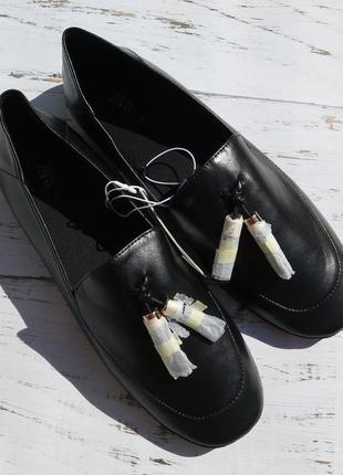 Ноые женские туфли zara 38 женские лоферы zara 38 жіночі лофер...