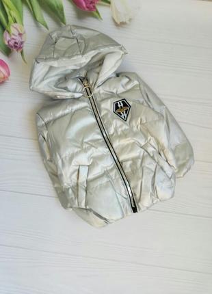 Курточка серебро