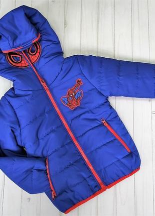 Куртка детская демисезонная спайдермен