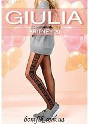 """Детские колготки с надписью """"Be happy"""" арт.Britney 20 model 1"""