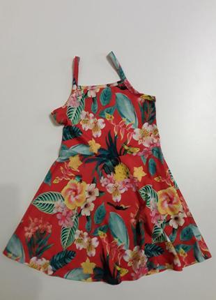 Фирменное трикотажное платье сарафан 7-8 лет