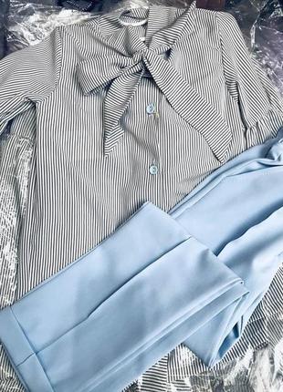 Костюм блузка+брюки