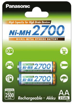 Аккумулятор Panasonic High Capacity AA Ni-MH 2700 мАч