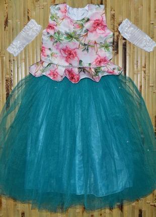 """Нарядное платье """"цветы"""""""
