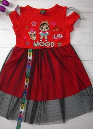 Модное платье lol для девочки